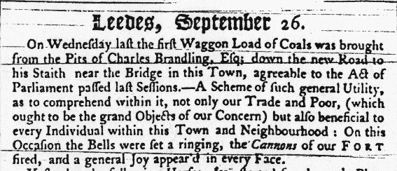 1758 newspaper extract