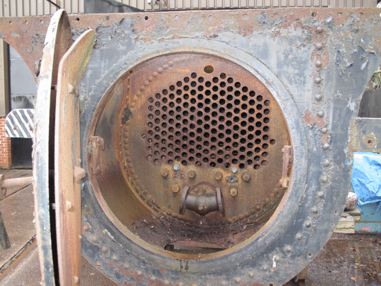 boiler of No. 6, showing the front tubeplate