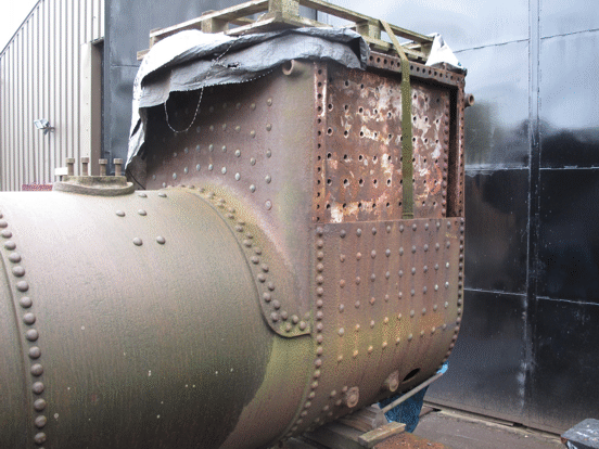 Boiler of No. 6 with the left-hand firebox wrapper removed