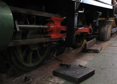 'chassis with rods fitted