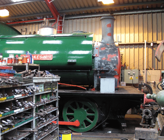 smokebox with piping fitted