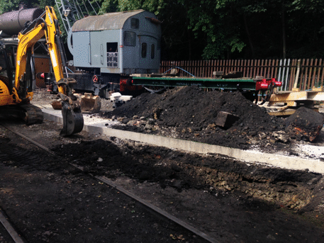 excavating for the oil separator
