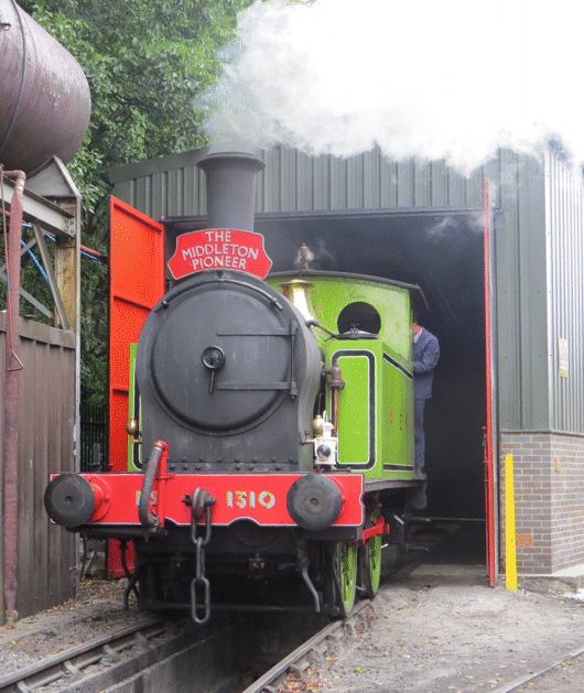 1310 emerging from the Running Shed