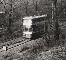 A tram in Middleton Woods