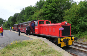 Party train at Park Halt